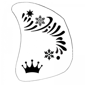 Facepainting Stencil Ice Queen