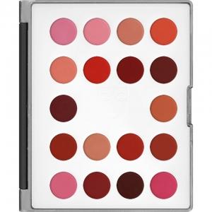 Kryolan Lip Rouge Mini Palette Lippenstifte 18 Farben LC