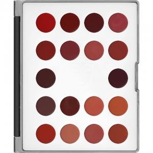 Kryolan Lip Rouge Mini Palette Lippenstift 18 Farben LF