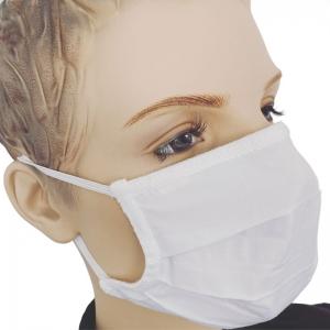 Mundmaske Baumwolle waschbar Mund und Nasenmaske weiss