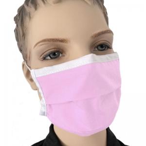 Mundmaske für Kinder Kindermaske Baumwolle waschbar Mund und Nasenmaske Farbe Pink Rosa