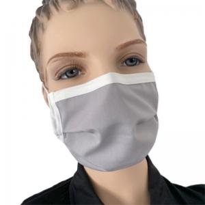 Mundmaske waschbar Mund Nasen Maske Farbe grau