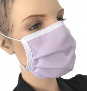 Mundmaske waschbar Baumwolle Farbe lavendel
