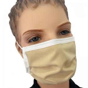 Wiederverwendbare Mundmaske Baumwolle waschbar Farbe beige