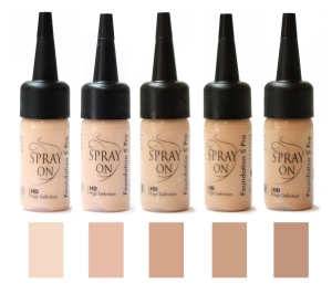Airbrush Make up Foundation Set SILICONE BASE natural beige