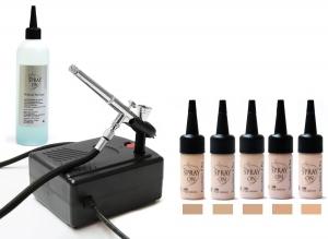 Airbrush Make up Profi Set Ausstattung Komplettausstattung Aqua Deluxe