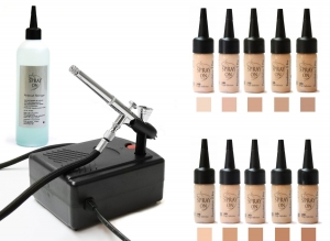Airbrush Make up Profi Set Silicone Based Deluxe