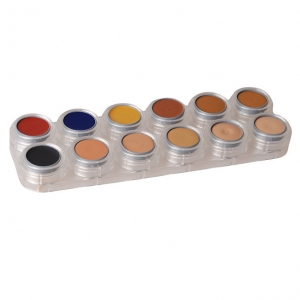 Camouflage Make up - 12 Farben Palette Grimas