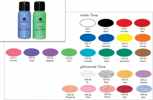 Fluid Aqua Paints - 50 ml - Bodypainting Farbe