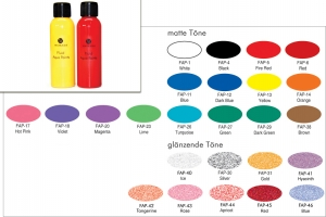 Fluid Aqua Paints - 100 ml - Bodypainting Farbe