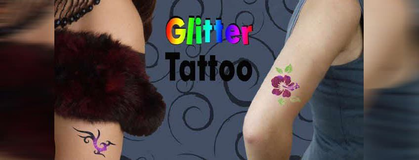 Glitzer Tattoo