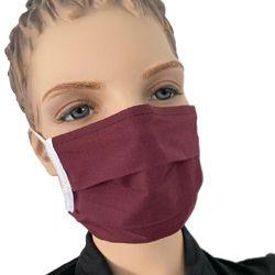 Mund Nasen Maske farbig Farbe Bordeaux bestellen