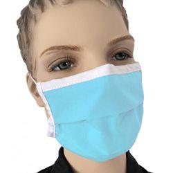 Mundmaske Kinder Kindermaske Farbe Blau Baumwolle waschbar