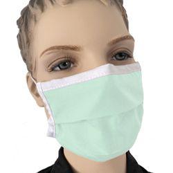 Mund Nasen Maske für Kinder farbig Mint Grün Stoff