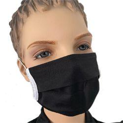 Mundmaske Stoff schwarz
