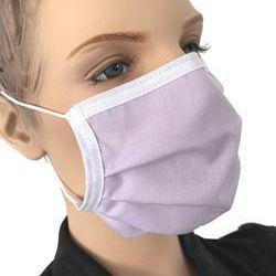 Mundmaske mit Nasenbügel waschbar Farbe Lavendel